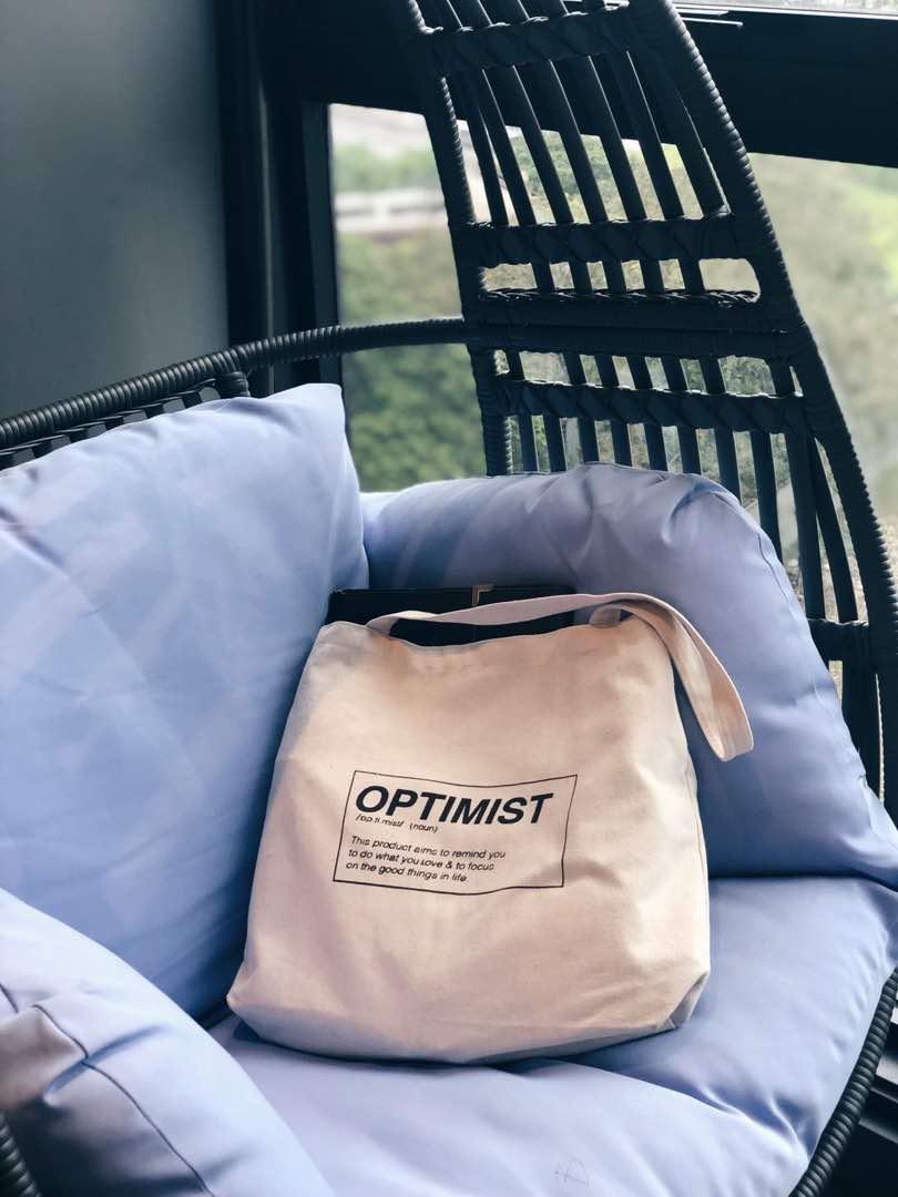 Optimist Tote Bag